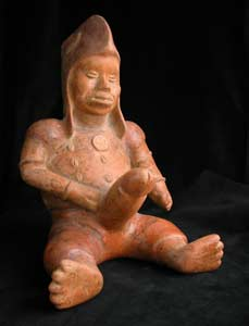Colima Sculpture of a Man with an Erect Phallus