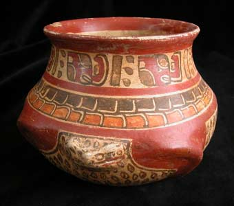 Mayan Polychrome Bowl in the Form of a Frog
