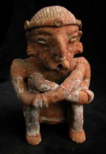 Ixtlán del Rio Style Nayarit Terracotta Seated Man with his Arms Crossed