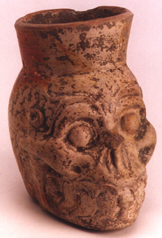 Toltec Plumbate Vessel in the form of an Ape Skull