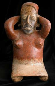 Ameca-Ezatlán Style Jalisco Terracotta Sculpture of a Seated Woman