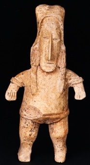 San Juanito Style Jalisco Terracotta Sculpture of a Standing Man
