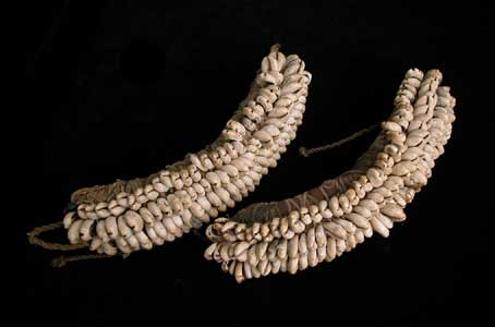 Pair of Yoruba Cowrie Shell Anklets