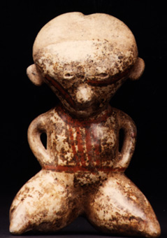 Chinesco Style (Type C) Nayarit Sculpture of a Seated Figure