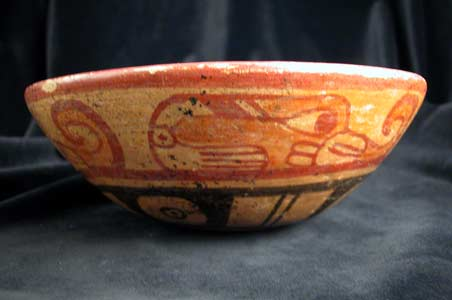 Mayan Painted Terracotta Bowl