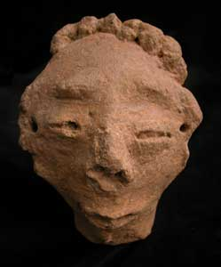 Akan Terracotta Ancestral Head
