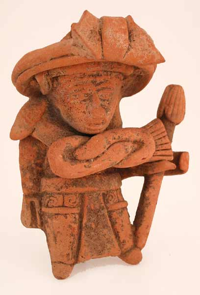 Mayan Terracotta Figural Whistle