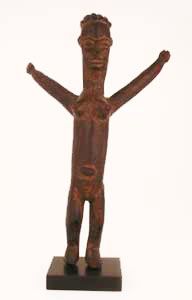 Lobi Sculpture of a Woman with Raised Arms