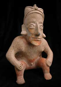 Ameca-Ezatlán Style Jalisco Terracotta Sculpture of a Seated Shaman