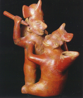 Colima Vessel in the Form of Two Combating Warriors
