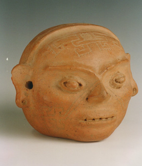 Mississippian Terracotta Head Effigy Vessel