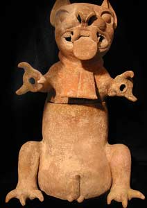 Zapotec Sculpture of a Ferocious Feline