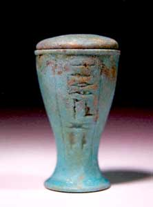 Egyptian Faience Lidded Container