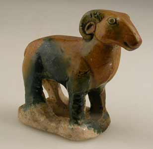 T'ang Glazed Sculpture of a Ram