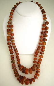 Amber and Faience Bead Necklace