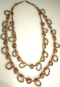 Limestone And Faience Bead Necklace