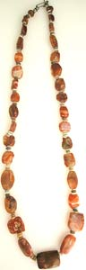 Jasper And Faience Bead Necklace