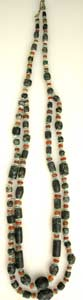 Carnelian, Diorite And Faience Bead Necklace