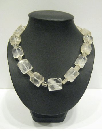 Rock Crystal Bead Necklace
