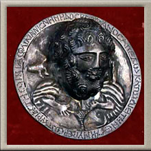Silver Roundel Inscribed and Decorated with a High Relief Head