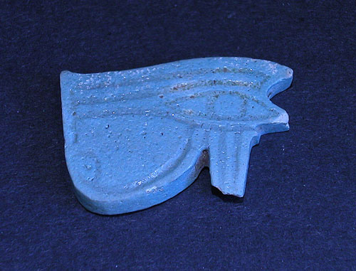 Egyptian Faience Amulet Depicting the Sacred Eye Of Horus