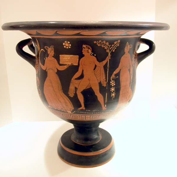 Apulian Terracotta Red-Figure Bell Krater