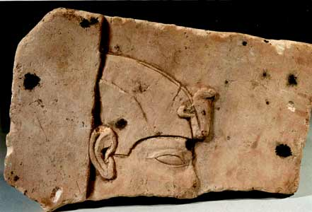 Ptolemaic Period Two-Sided Limestone Plaque