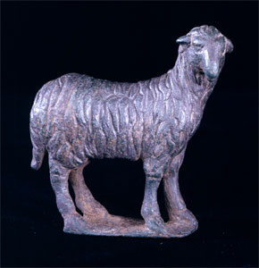 Roman Bronze Sculpture of a Sheep