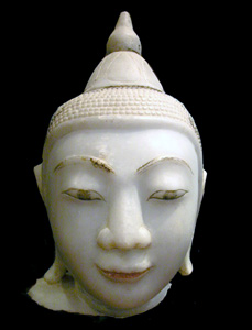 Shan Marble Head of the Buddha