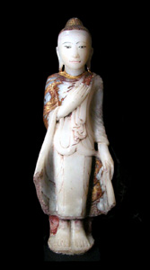 Mandalay Gilt Marble Sculpture of Buddha Standing