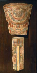 Two Panels from a Cartonnage Mummy Ensemble