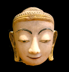 Shan Marble Head of Buddha