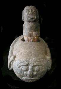 Indonesian Stone Ceremonial Pestle and Mortar
