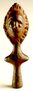 Iron Age Silver Alloy Sculpture of a Stylized Human